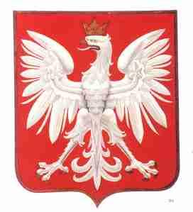 bialy orzel - weisser Adler auf rotem Grund